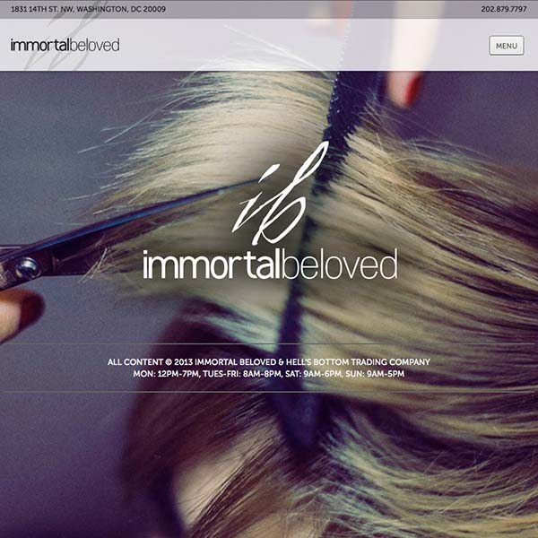 Immortal Beloved Salon Website