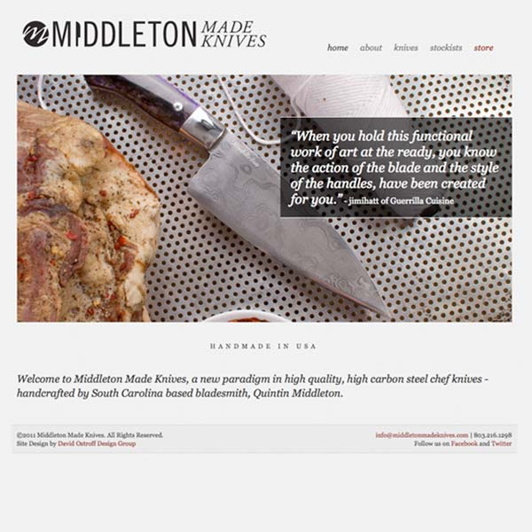 Middleton Made Knives Website