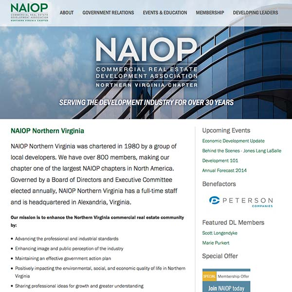 NAIOP Northern Virgnia Website