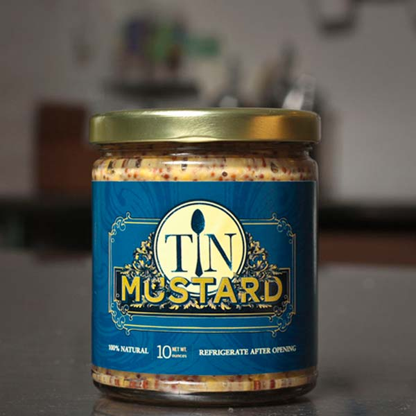 Tin Mustard identity and package design