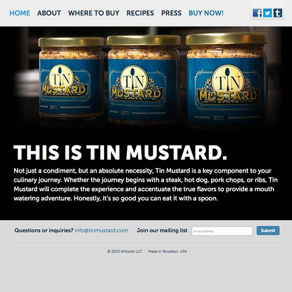 Tin Mustard Website