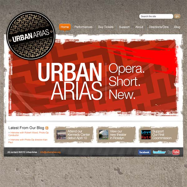 Urban Arias Website